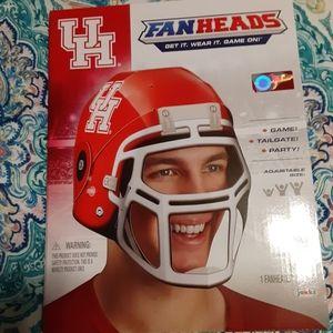 University of Houston fan heads helmet